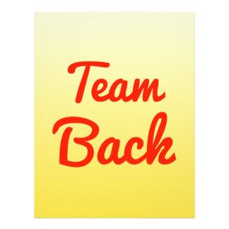 Team Back Custom Flyer