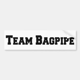 Team Bagpipe Bumper Sticker