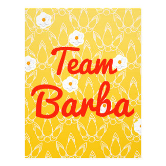 Team Barba Personalized Flyer