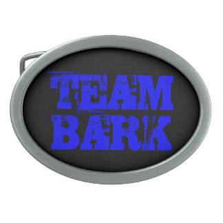 TEAM BARK GEAR (belt buckle) Oval Belt Buckle