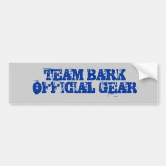 Team Bark Official Gear Car Bumper Sticker