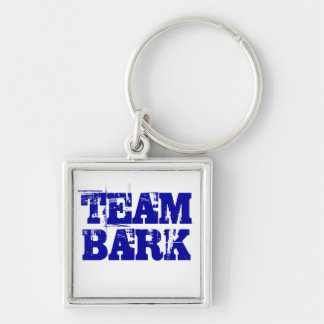 Team Bark Official Key Ring Silver-Colored Square Keychain