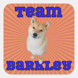 Team Barkley - Square Stickers, Glossy Square Sticker