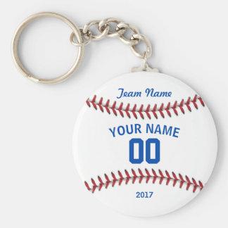 Team Baseball Sport Basic Round Button Keychain