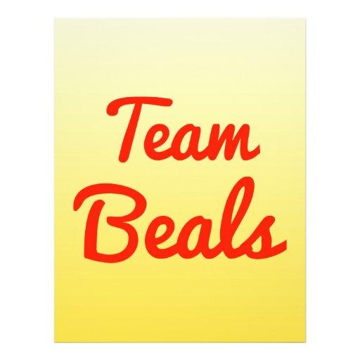 Team Beals Full Color Flyer