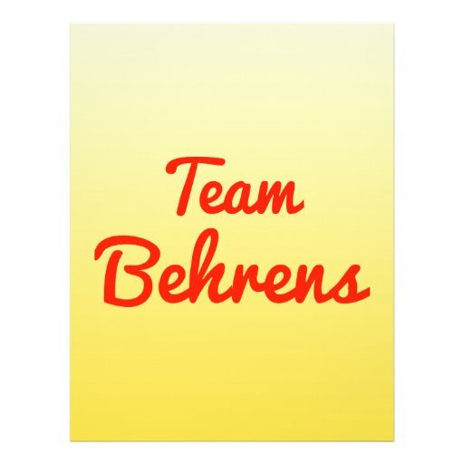 Team Behrens Custom Flyer