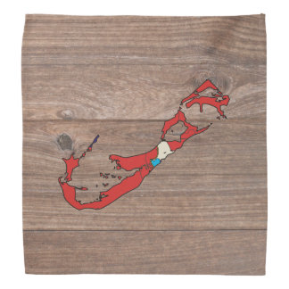 Team bermuda Flag Map on Wood Bandana