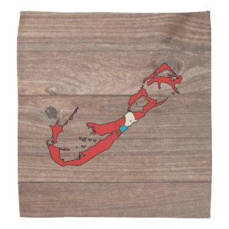 Team bermuda Flag Map on Wood Kerchiefs