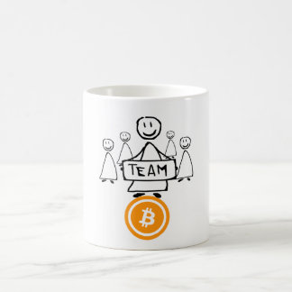 Team Bitcoin Stick Figure Coffee Mug