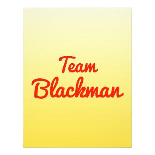Team Blackman Full Color Flyer