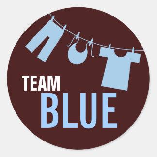 Team Blue Baby Clothes Gender Reveal Team Sticker