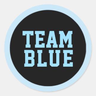 TEAM BLUE Gender Reveal Baby Shower Game Labels