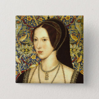 Team Boleyn - Portrait of Queen Anne Boleyn 2 Inch Square Button