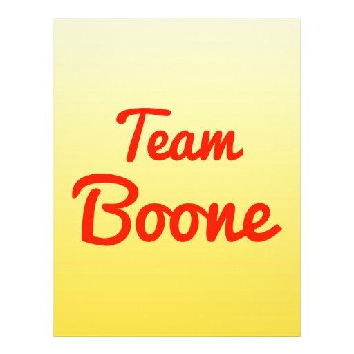 Team Boone Flyer