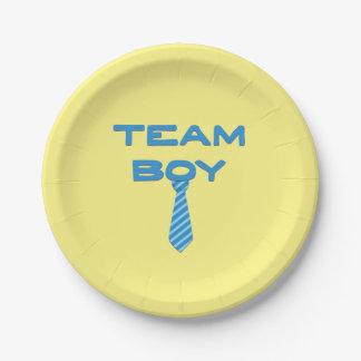Team Boy Gender Reveal Party Gear Paper Plate