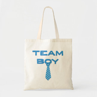 Team Boy Gender Reveal Tote