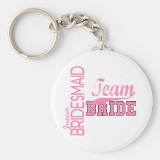 Team Bride 1 JUNIOR JR BRIDESMAID Keychain