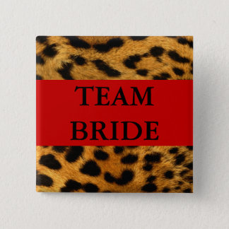 Team Bride 2 Inch Square Button