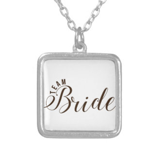 Team Bride Accessories Silver Plated Necklace