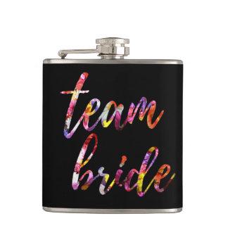 Team Bride Bachelorette Custom Vinyl Wrapped Flask