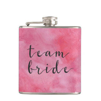 TEAM BRIDE ;; Bachelorette Party Flask