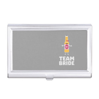 Team Bride Beerbottle Z5s42 Business Card Holder
