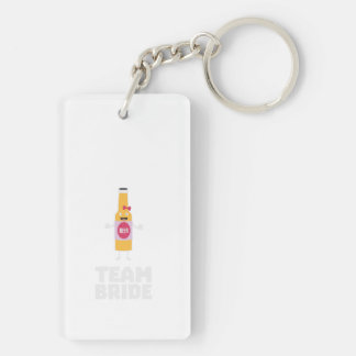 Team Bride Beerbottle Z5s42 Double-Sided Rectangular Acrylic Keychain