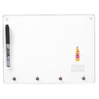Team Bride Beerbottle Z5s42 Dry Erase Board With Keychain Holder