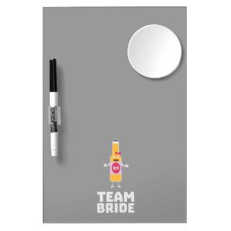 Team Bride Beerbottle Z5s42 Dry Erase Board With Mirror