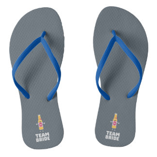 Team Bride Beerbottle Z5s42 Flip Flops