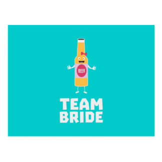 Team Bride Beerbottle Z5s42 Postcard