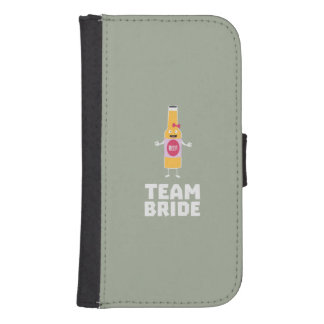 Team Bride Beerbottle Z5s42 Samsung S4 Wallet Case