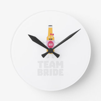 Team Bride Beerbottle Z5s42 Wall Clocks