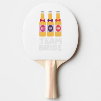 Team Bride Beerbottles Z26ll Ping Pong Paddle