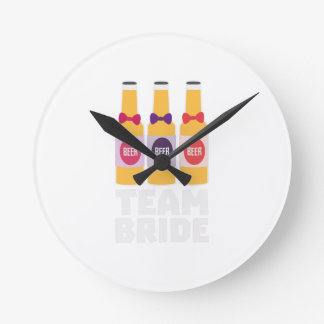 Team Bride Beerbottles Z26ll Wallclocks