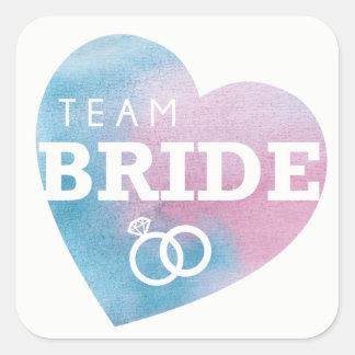 Team Bride Bridal Shower Stickers Pink Blue