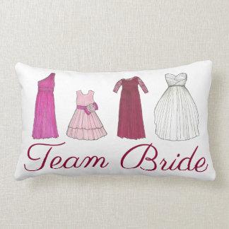 Team Bride Bridesmaid Bridal Party Gowns Wedding Lumbar Pillow