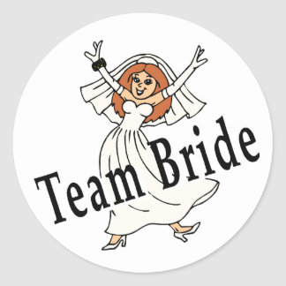 Team Bride Classic Round Sticker