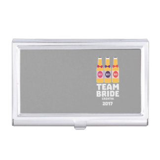 Team Bride Croatia 2017 Z6na2 Business Card Holder