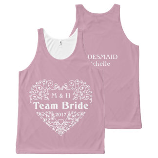 Team Bride custom text & year wedding tank top