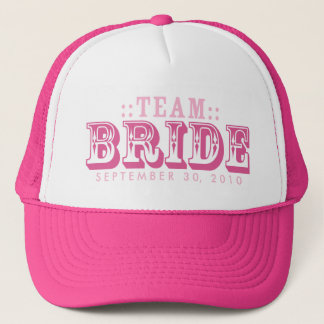 """TEAM BRIDE"" Customized Wedding Day Trucker Hat"