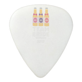 Team Bride Denmark 2017 Zni44 Acetal Guitar Pick