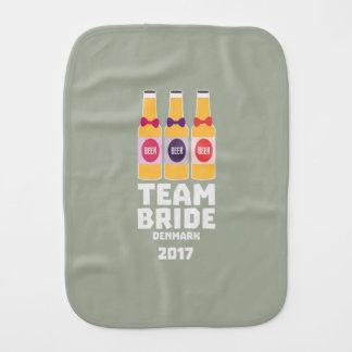 Team Bride Denmark 2017 Zni44 Burp Cloth
