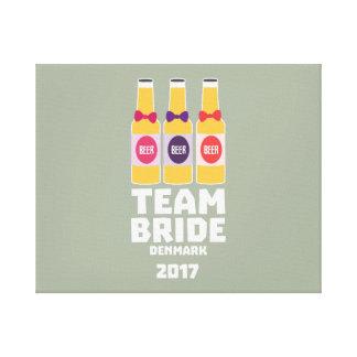 Team Bride Denmark 2017 Zni44 Canvas Print