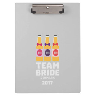 Team Bride Denmark 2017 Zni44 Clipboard