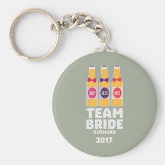 Team Bride Denmark 2017 Zni44 Keychain