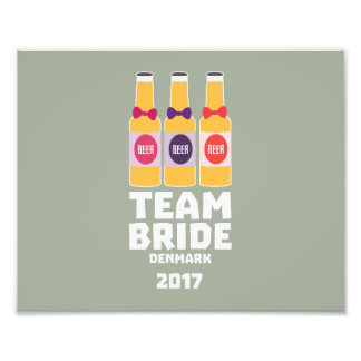 Team Bride Denmark 2017 Zni44 Photo Print