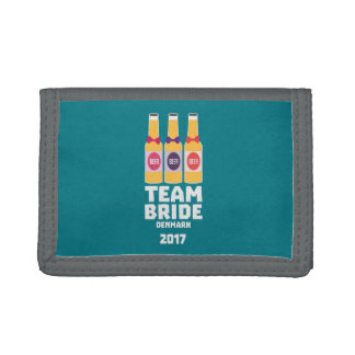 Team Bride Denmark 2017 Zni44 Tri-fold Wallet