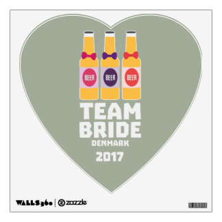 Team Bride Denmark 2017 Zni44 Wall Sticker