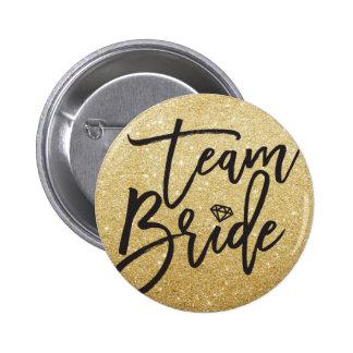 Team Bride Diamond Bridal Party Wedding Button